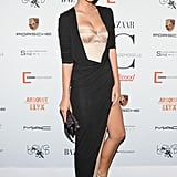 Emily Ratajkowski vamped it up on the red carpet for the Mademoiselle C premiere.