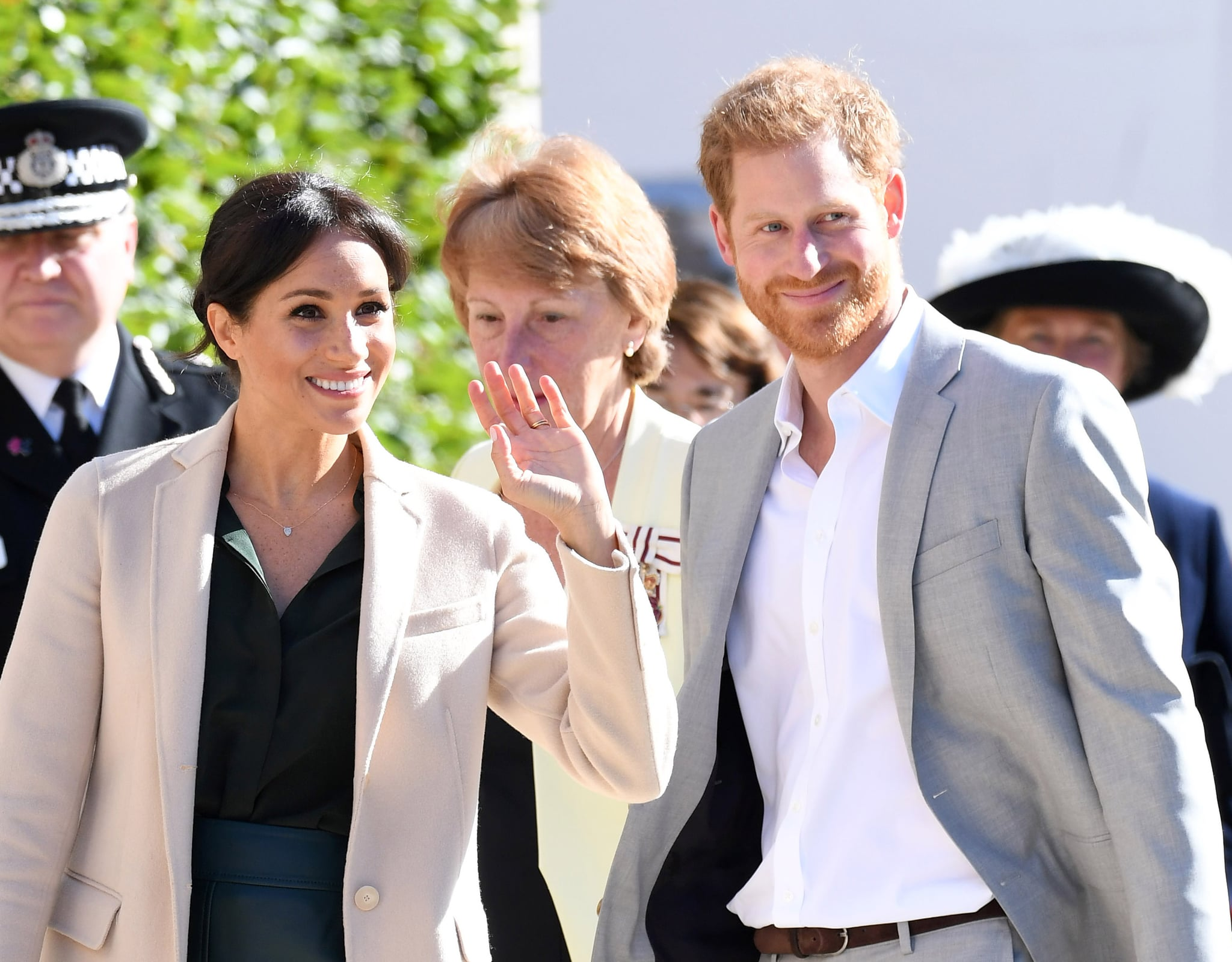 CHICHESTER, UNITED KINGDOM - OCTOBER 03:  (EMBARGOED FOR PUBLICATION IN UK NEWSPAPERS UNTIL 24 HOURS AFTER CREATE DATE AND TIME) Prince Harry, Duke of Sussex and Meghan, Duchess of Sussex during an official visit to Sussex on October 3, 2018 in Chichester, United Kingdom.  The Duke and Duchess married on May 19th 2018 in Windsor and were conferred The Duke & Duchess of Sussex by The Queen.  (Photo by Karwai Tang/WireImage)