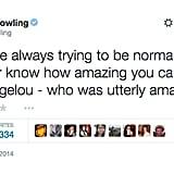 J.K. Rowling Paid a Sweet Tribute to Maya Angelou
