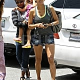 Halle Berry in short shorts.