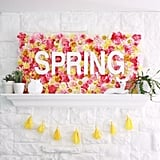 Make a head-turning DIY Spring sign using colorful faux florals.