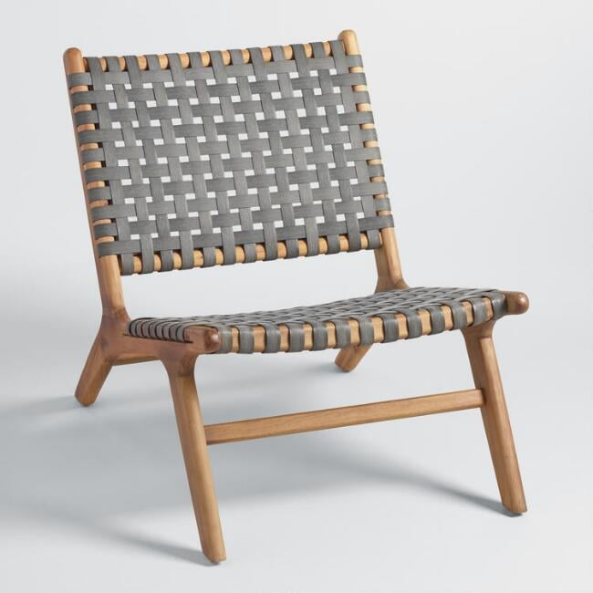 Gray Strap Girona Outdoor Accent Chair