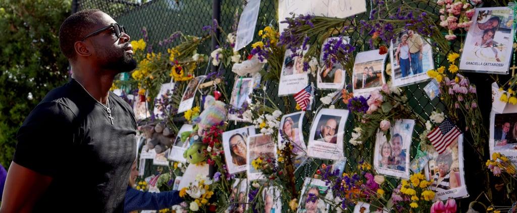 Dwyane Wade Visits Memorial Site of Miami Condo Collapse