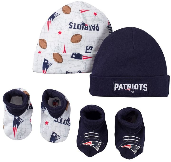 Baby New England Patriots Cap and Crib Shoes Set  a9648f90e