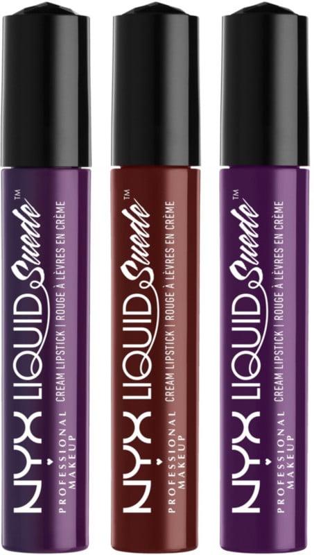 NYX Liquid Suede Cream Lipstick Set in Subversive Socialite, Covet, Temptress