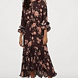 H&M Crêped Ruffled Dress
