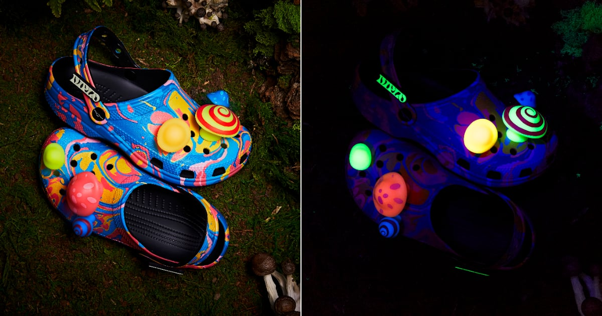 Diplo's Crocs Are Wonderfully Wild and Weird With Glow-in-the-Dark Mushroom Charms.jpg