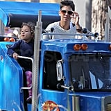 Halle Berry on a ride with Nahla.