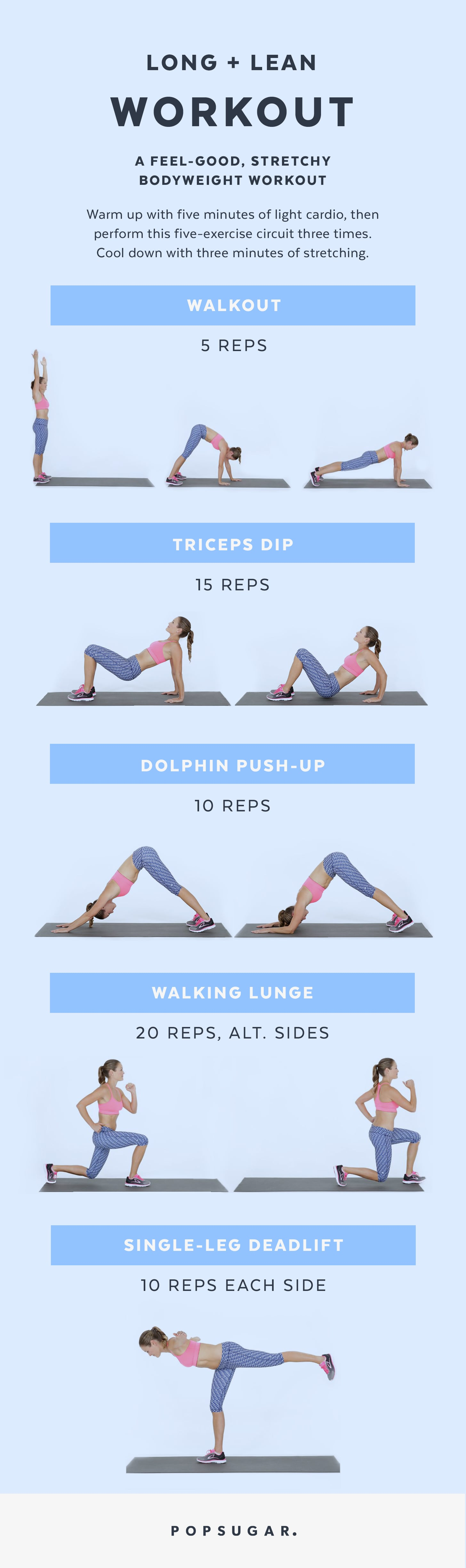 Printable Bodyweight Workouts Popsugar Fitness