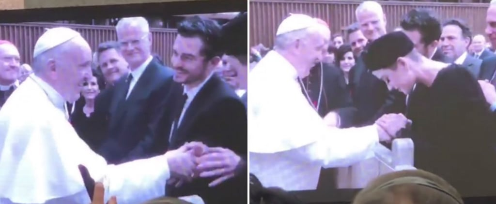 Katy Perry and Orlando Bloom Meeting Pope Francis April 2018