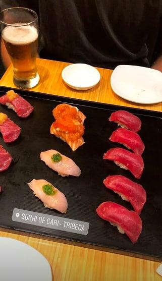 Nina Agdal Found Time to Nosh on Sushi at Sushi of Gari in Tribeca