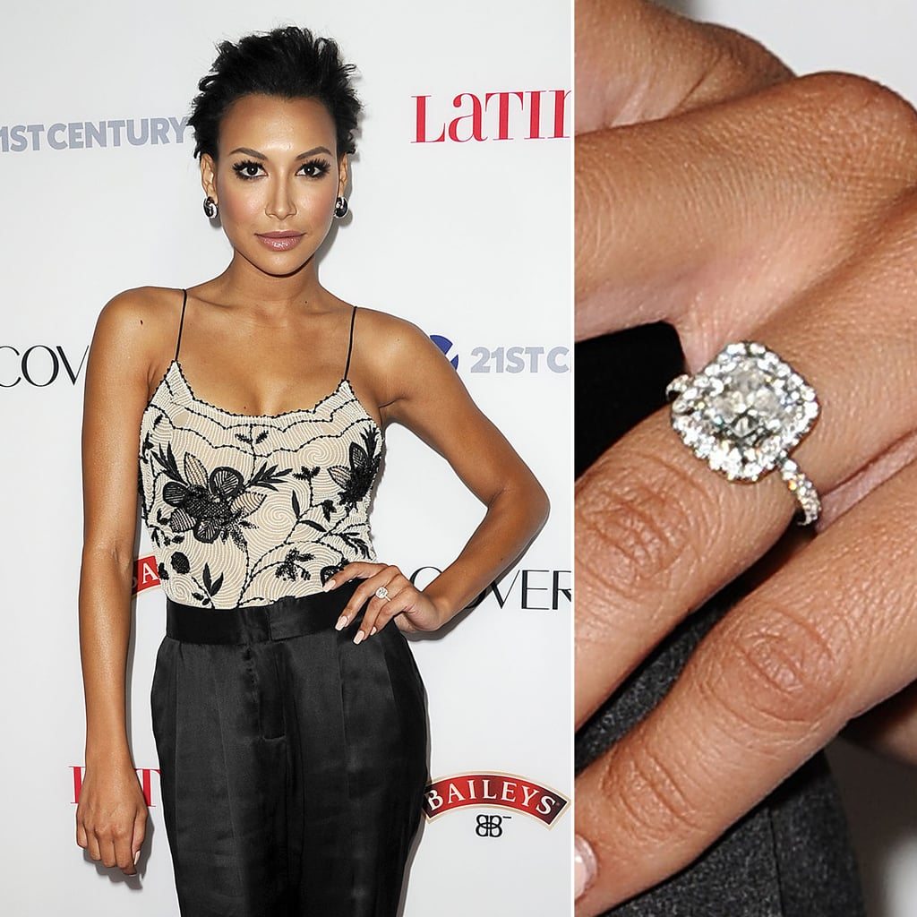 Naya rivera celebrity engagement ring pictures popsugar naya rivera junglespirit