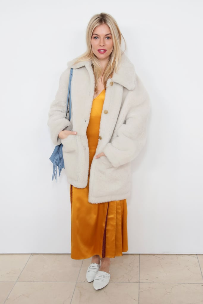Sienna Miller's Yellow Slip Dress