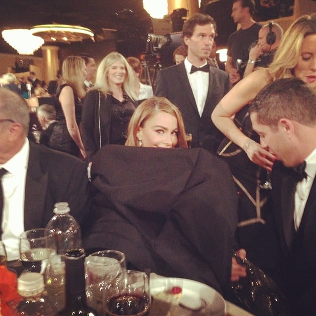 Sofia Vergara's dress was full of secrets. Source: Instagram user jessetyler