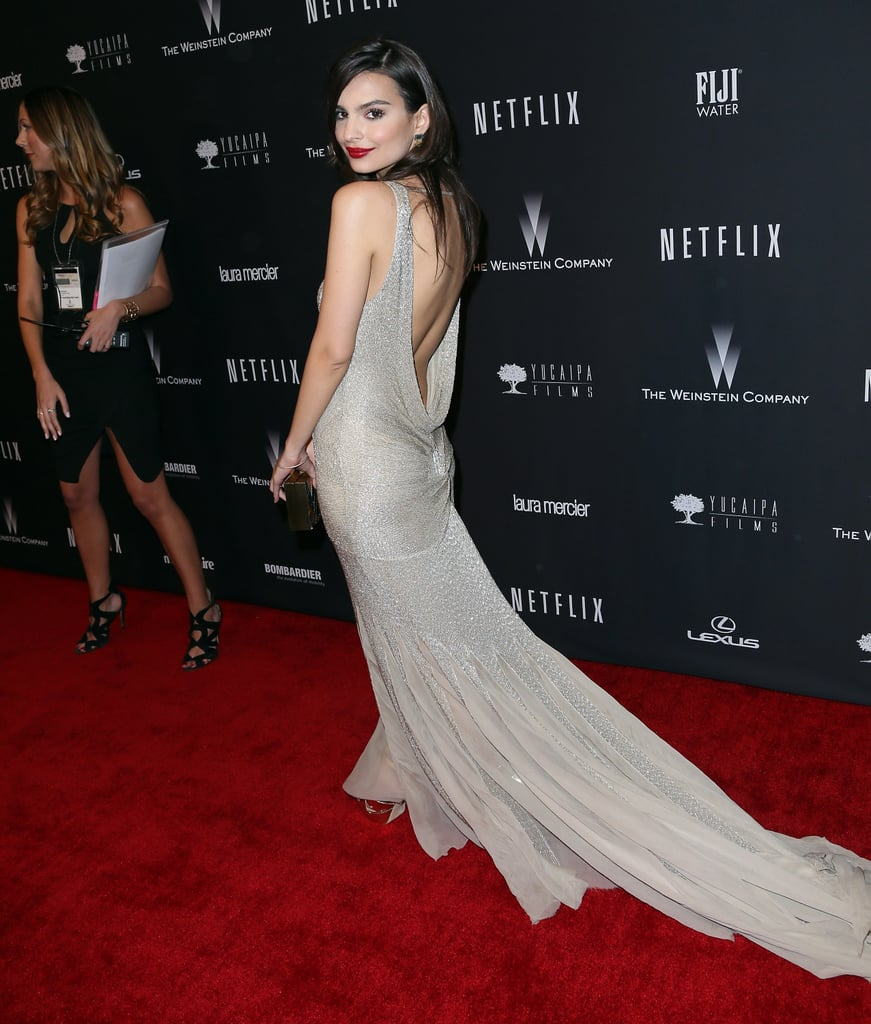 Emily Ratajkowski at the Netflix Golden Globes Afterparty