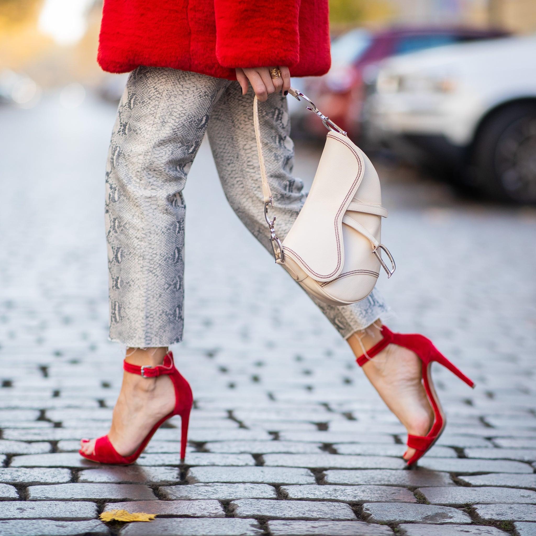 07b2c090561 RAID Katy Light Gray Block Heeled Shoes