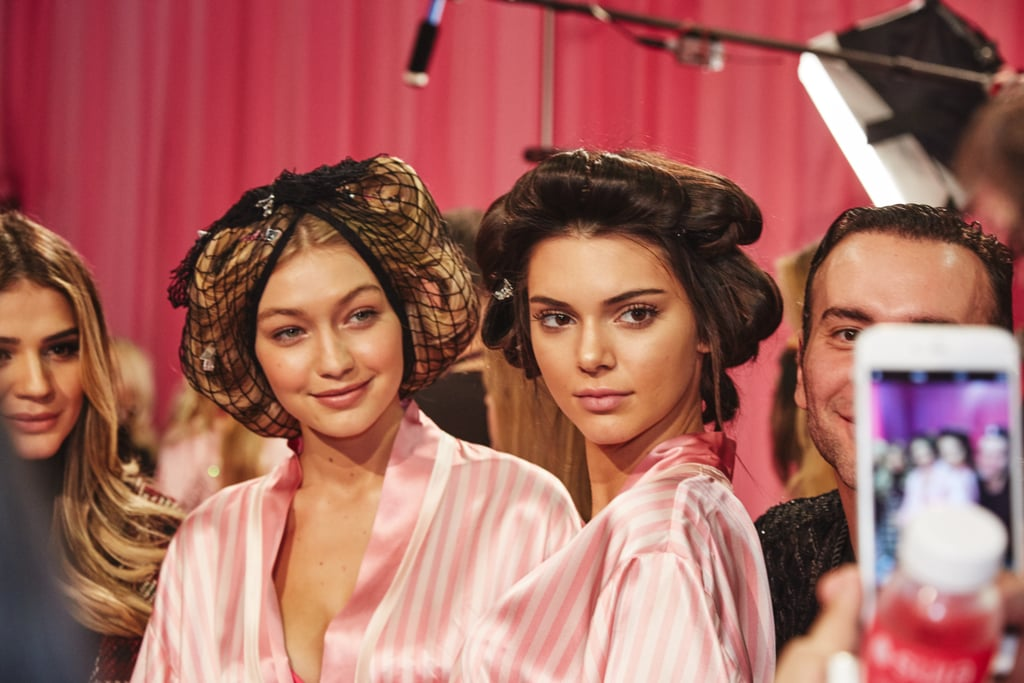 BFFs Gigi Hadid and Kendall Jenner pose for the cameras.