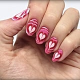 Your Heart Is Going to Melt Over These Lovable Valentine's Day Marble Nails