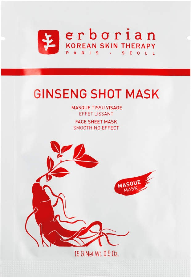 erborian ginseng shot mask best sheet masks 2018 popsugar beauty photo 1. Black Bedroom Furniture Sets. Home Design Ideas