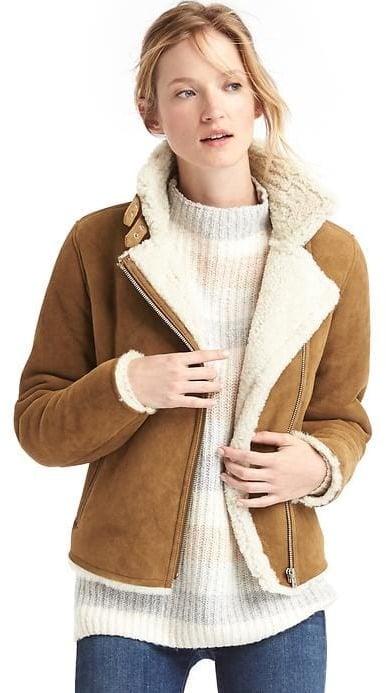 Gap Shearling Moto Jacket ($698)