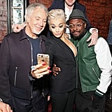 The judges of The Voice UK snapped a selfie at a secret gig on Wednesday night.