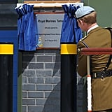Prince Harry participated in the opening of a new center at the naval base.