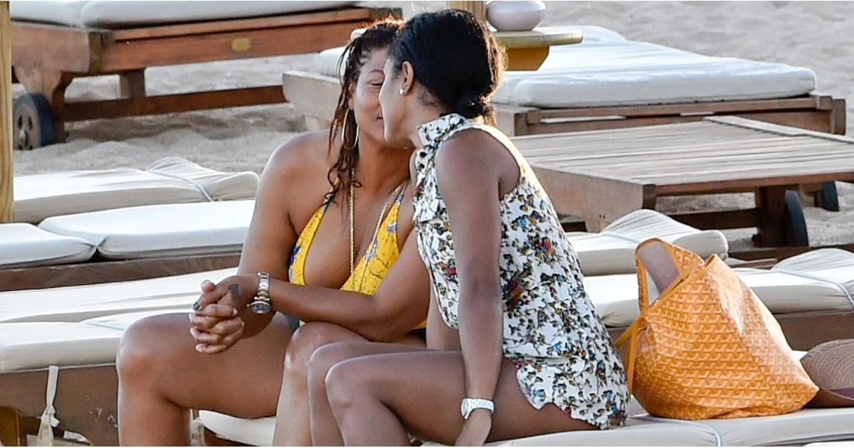 Queen Latifah Kissing Her Girlfriend Pictures Popsugar