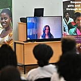 Meghan Markle Skypes Into Prince Harry's Meeting in Africa