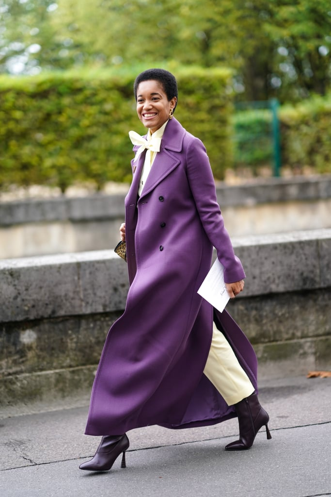 If you're going to cover up your outfit for the cold winter months anyway, it might as well be with a gorgeouslly-coloured coat.
