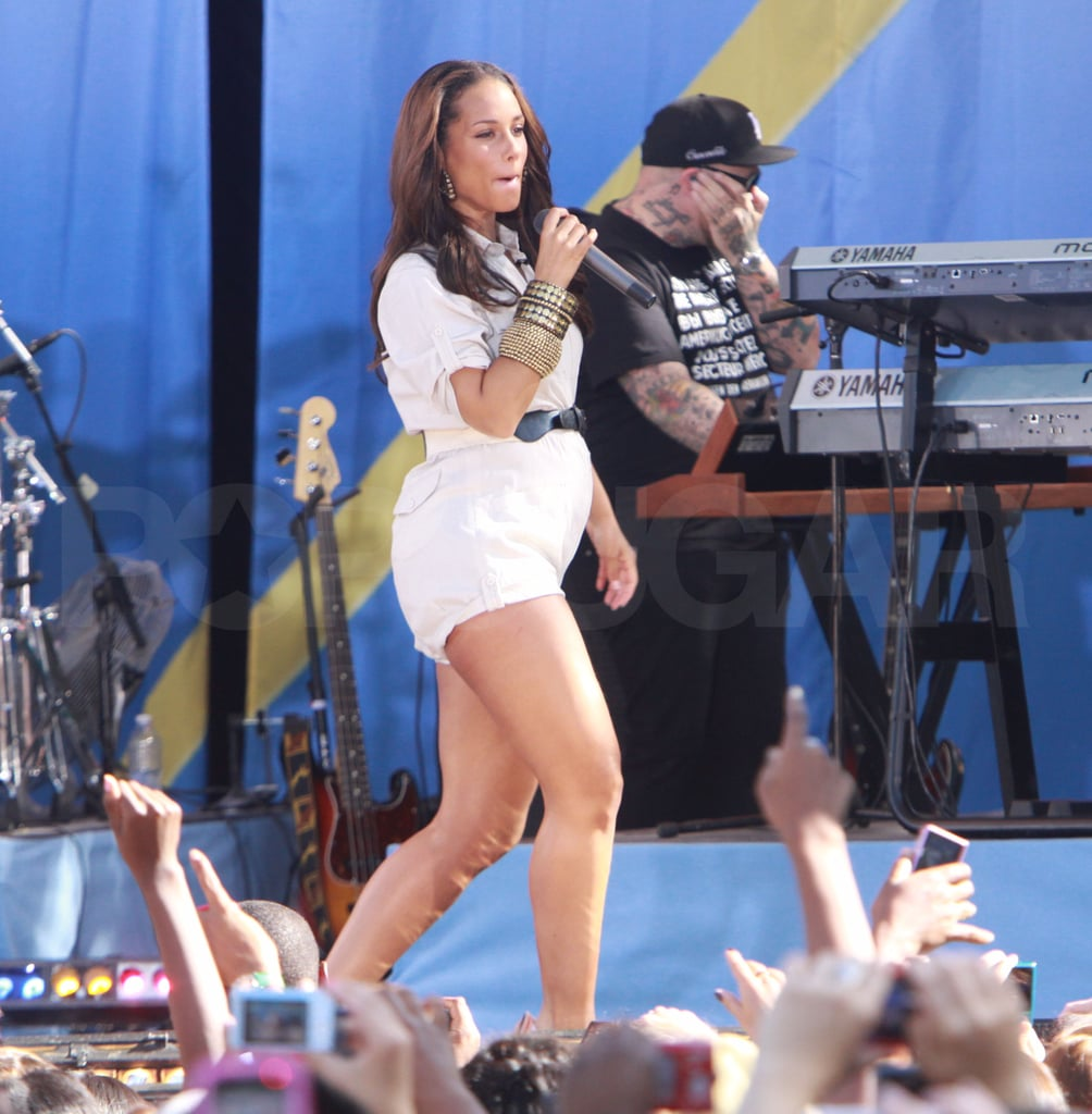 Alicia Keys Performing on Good Morning America