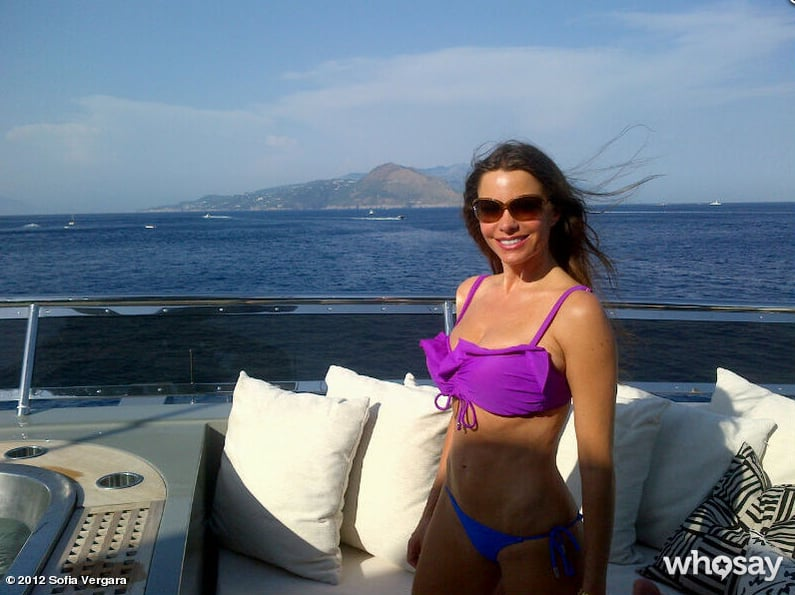Sofia Vergara captured her Capri getaway on camera.  Source: Sofia Vergara on WhoSay