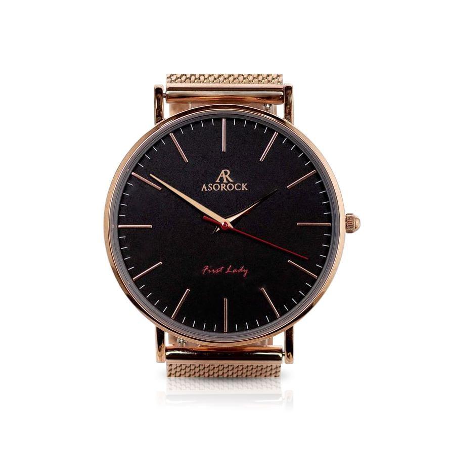 Rosegold Black FirstLady Watch