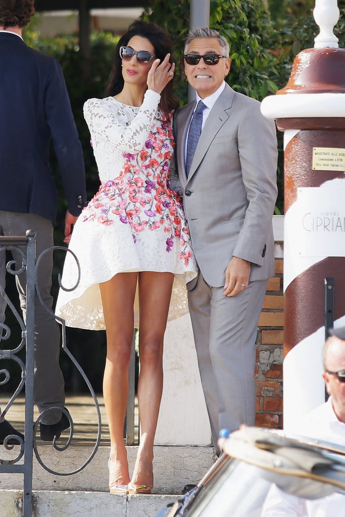 During her wedding festivities in Italy in 2014, Amal chose a Giambattista Valli dress.