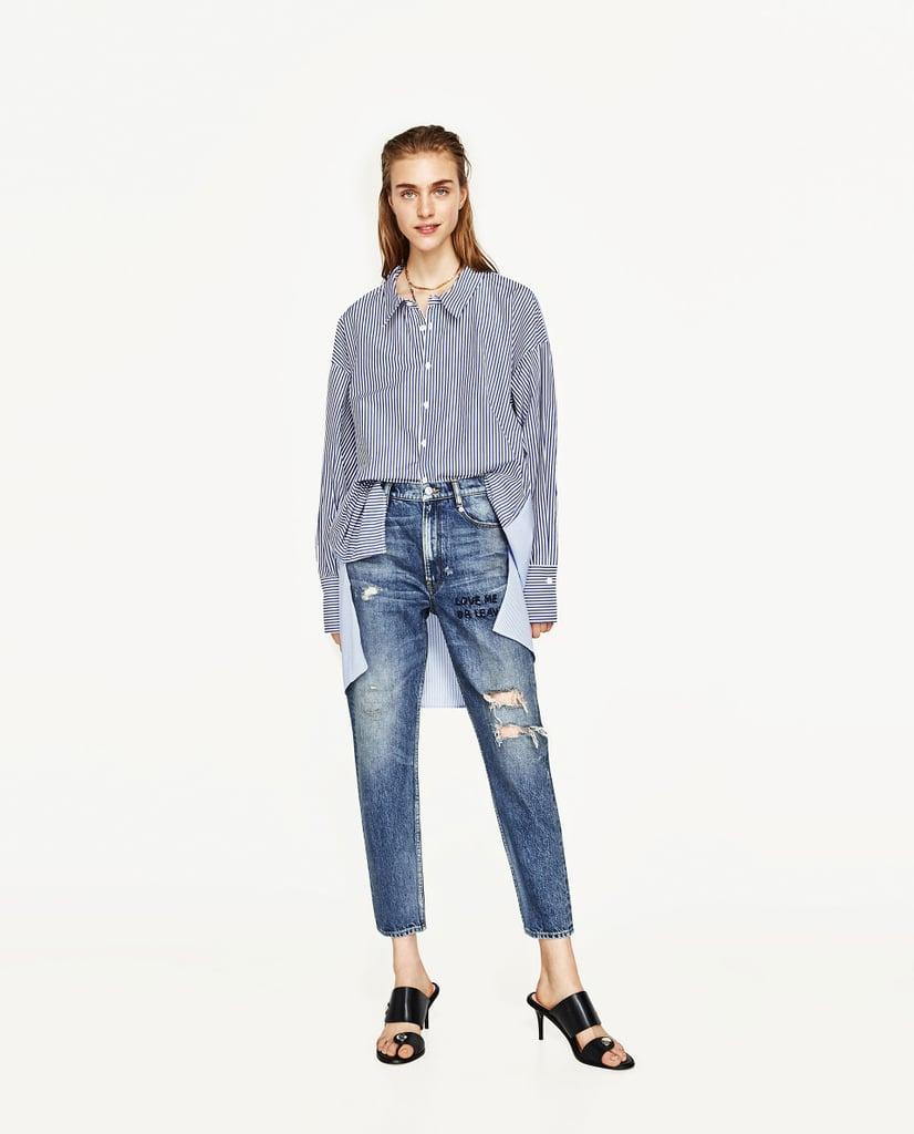 Zara Mid-Rise Boyfriend Jeans