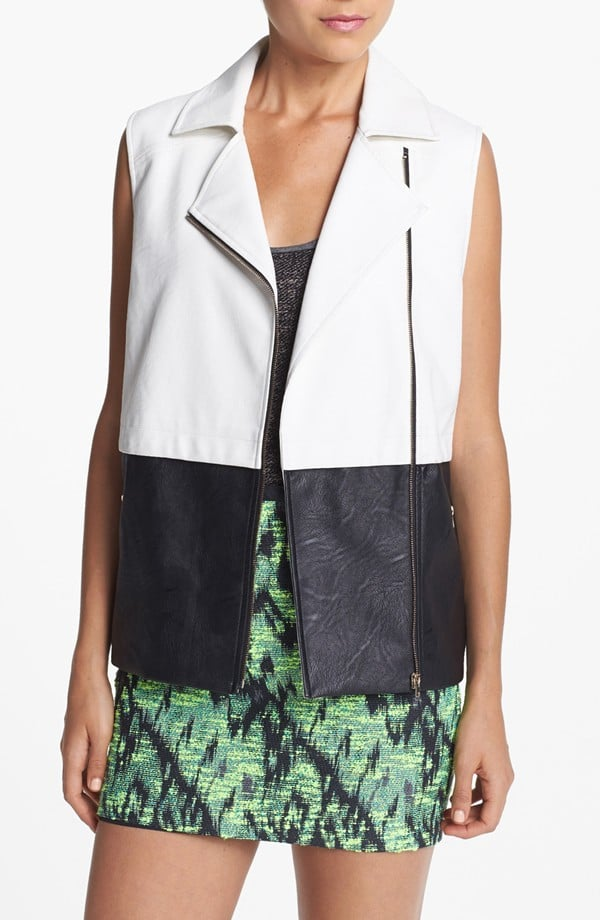Throw this boxy Astr motorcycle vest ($50, originally $99) on over anything this Fall for a quick outfit update.