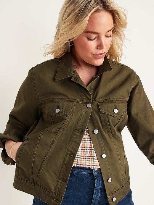 Olive Green Jean Jacket