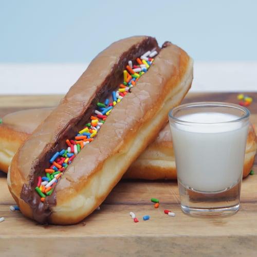 Doughnut Milk Luge