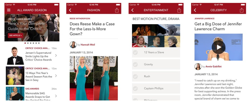 Obsessed With Award Season? There's an App For That!