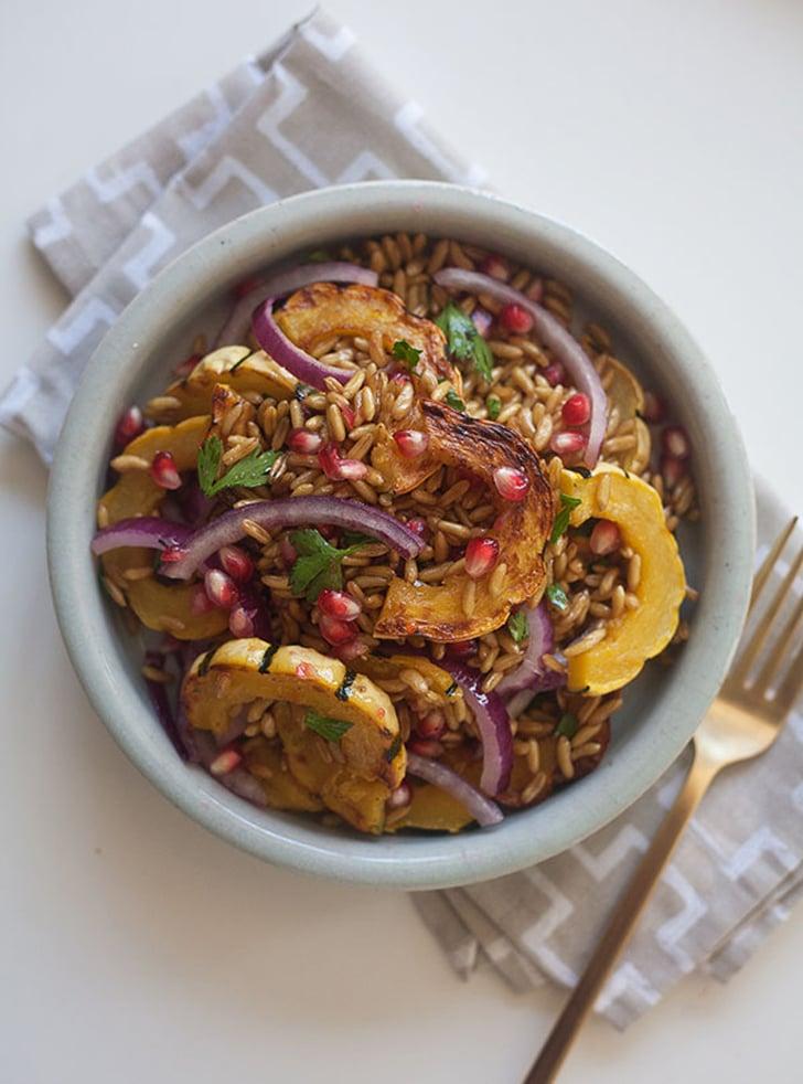 Farro Salad With Delicata Squash and Pomegranate