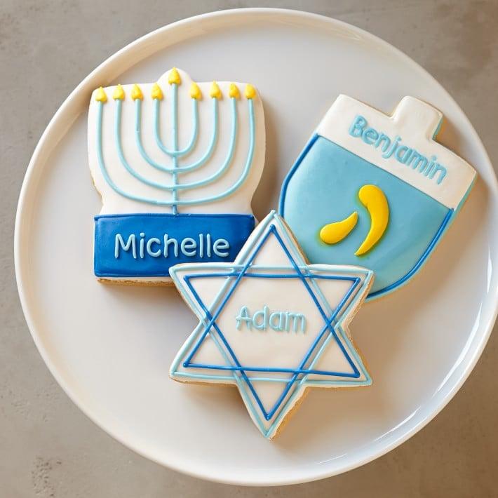 Personalized Hanukkah Cookies