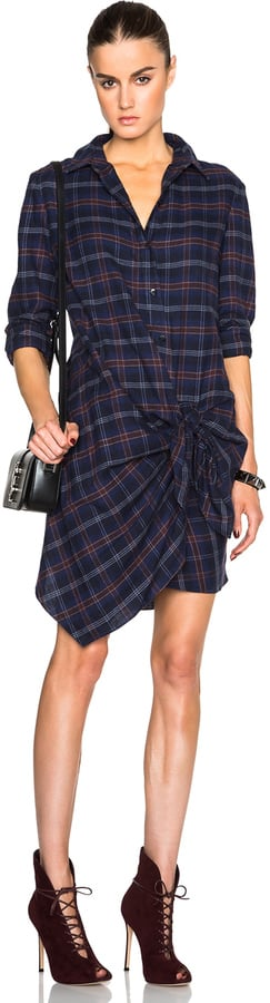 Thakoon Addition Thakoon Flannel Side Tie Dress ($490)