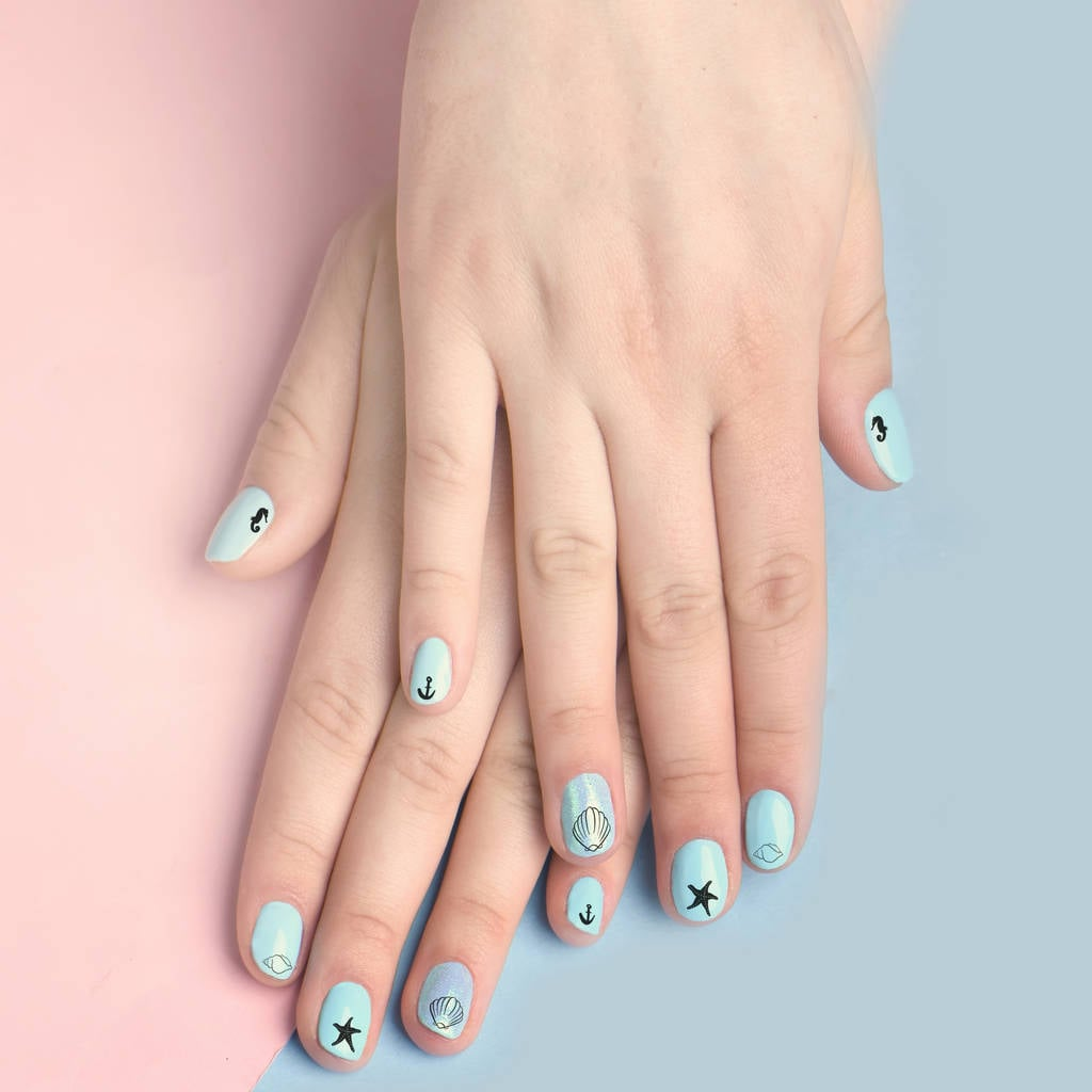 Mermaid Nail Transfers
