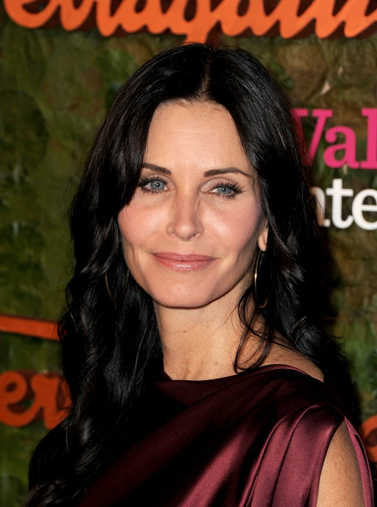 Courteney Cox knows what look works for her: simple makeup and center-parted waves.