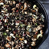 Wild Rice Stuffing With Turkey Italian Sausage, Cranberries, and Hazelnuts