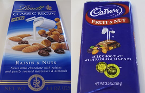 Taste Test: Lindt Raisin & Nuts vs. Cadbury Fruit & Nut Bars