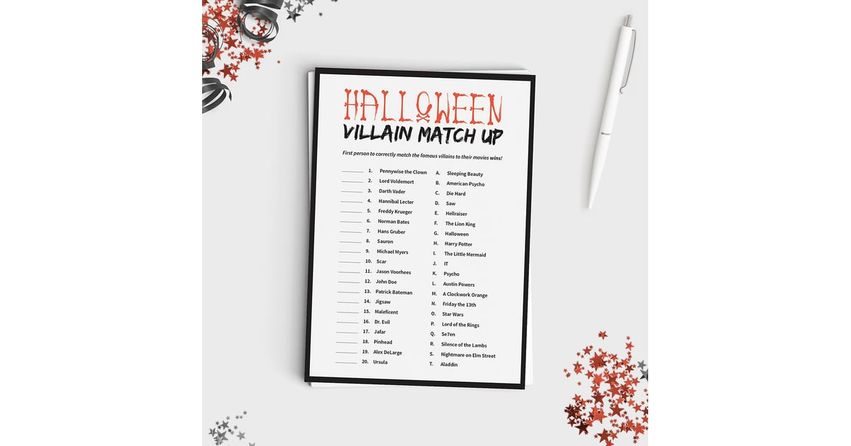 halloween villain match up kids halloween games popsugar moms photo 5