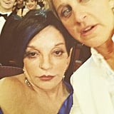 "Ellen DeGeneres posted a picture with Liza Minnelli — ""#Besties."" Source: Twitter user TheEllenShow"