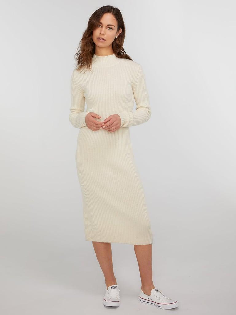 ce6d77f79b8 State Cashmere Long Sleeve Turtleneck Sweater Dress