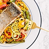 Corn Slaw With Sugar Snap Peas and Courgette Noodles