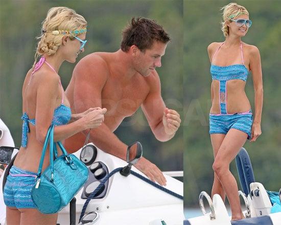 Photos of Paris Hilton and Doug Reinhardt in Bora Bora